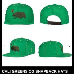d6ec389ce5a CALI GREENS SNAP BACK HAT. NWT.  40  55. Size  SnapBack